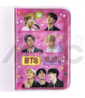 Porte carte BTS + 18 cards