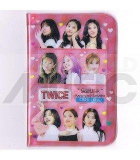 Porte carte TWICE + 18 cards