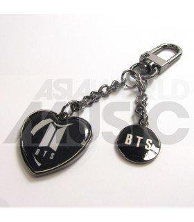 BTS - Porte-clés Coeur (Noir)