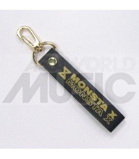 MONSTA X - Dragonne poignet (Simili cuir noir)