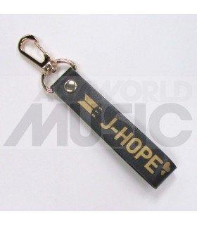 BTS Fake Love - Dragonne poignet J-HOPE (Simili cuir noir)