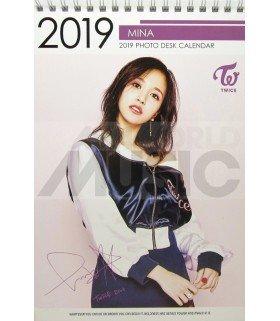 MINA (TWICE) - Calendrier de bureau 2019 / 2020 (Type B)