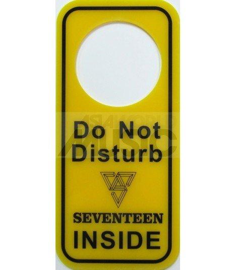 SEVENTEEN LOGO - Pancarte Do Not Disturb SEVENTEEN INSIDE