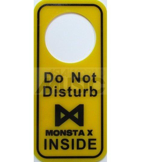 MONSTA X LOGO - Pancarte Do Not Disturb MONSTA X INSIDE