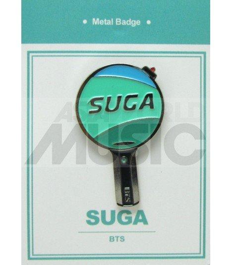SUGA LIGHT STICK (BTS) - Pin's métal (Import Corée)