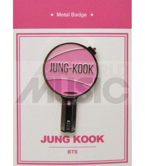 JUNGKOOK LIGHT STICK (BTS) - Pin's métal (Import Corée)
