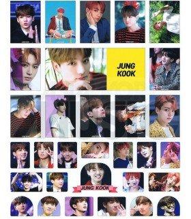 BTS - Set de stickers JUNGKOOK 020
