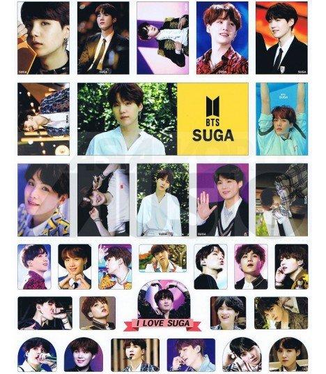 BTS - Set de stickers SUGA 007