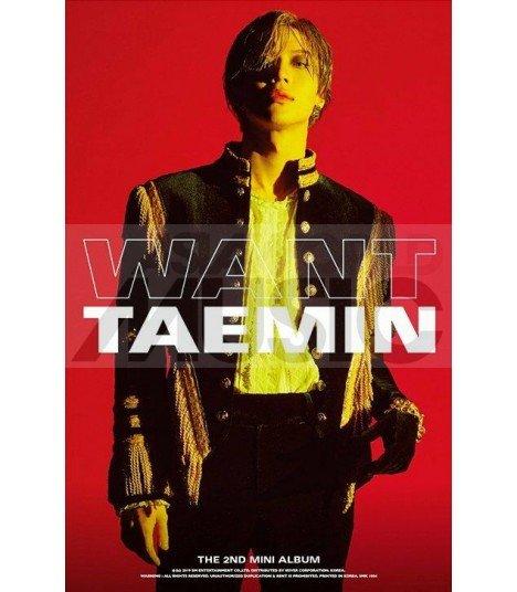 Affiche officielle Taemin - WANT (Version MORE)