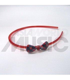 Serre-tête nœud à pois (rouge/ bleu)