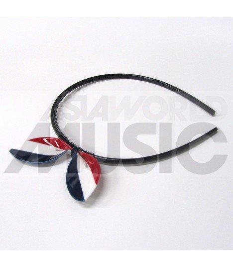 Serre-tête gros ruban (modèle drapeau français)