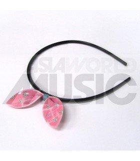 Serre-tête gros ruban (modèle rose à fleurs)