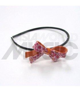 Serre-tête grosse boucle (rose à fleurs)
