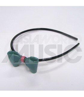 Serre-tête gros nœud (turquoise)