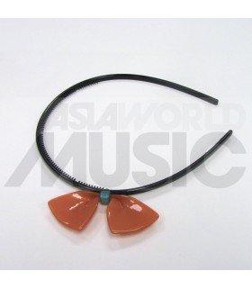 Serre-tête gros ruban (orange)