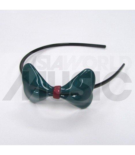 Serre-tête gros nœud (vert foncé)