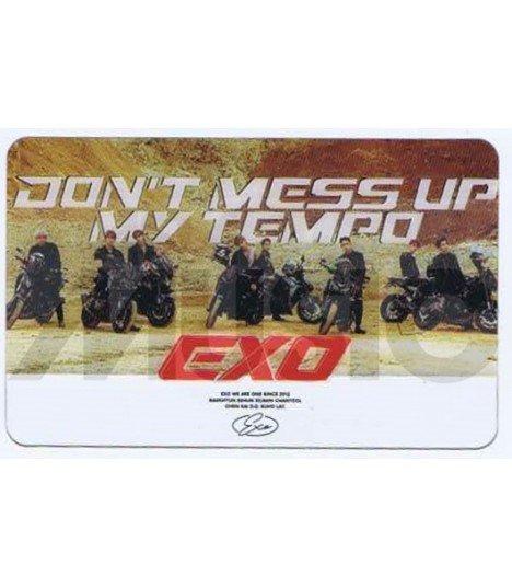 EXO - Carte transparente BAND (DON'T MESS UP MY TEMPO / VERSION MODERATO)