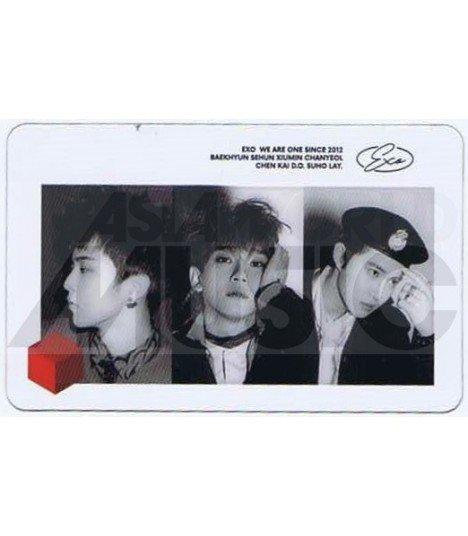 EXO - Carte transparente XIUMIN X CHEN X SUHO (DON'T MESS UP MY TEMPO)