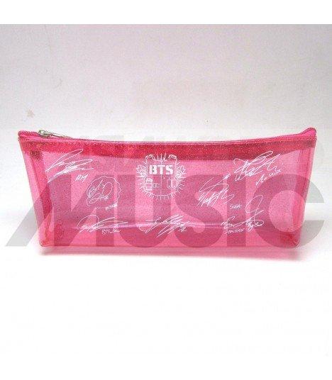 BTS - Trousse Plate - Bulletproof Autographed (PINK)