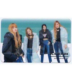 BLACKPINK - Carte transparente BAND (GUESS WINTER PHOTOSHOOT / TYPE A)