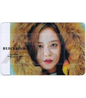 BLACKPINK - Carte transparente JISOO (GUESS WINTER PHOTOSHOOT / TYPE A)