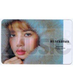 BLACKPINK - Carte transparente LISA (GUESS WINTER PHOTOSHOOT / TYPE A)
