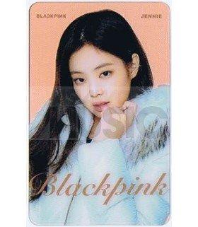 BLACKPINK - Carte transparente JENNIE (GUESS WINTER PHOTOSHOOT / TYPE B)