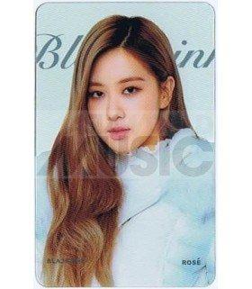 BLACKPINK - Carte transparente ROSE (GUESS WINTER PHOTOSHOOT / TYPE B)