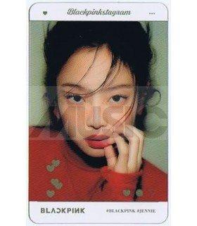 BLACKPINK - Carte transparente JENNIE (BLACKPINKSTAGRAM)