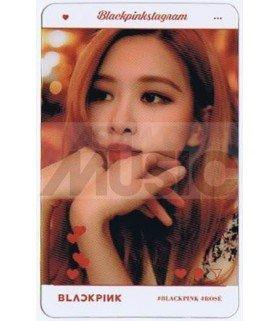 BLACKPINK - Carte transparente ROSE (BLACKPINKSTAGRAM)