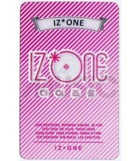 IZ*ONE - Carte transparente LOGO 001