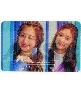 IZ*ONE - Carte transparente WON YOUNG X MIN JU (COLORIZ / VERSION COLOR)