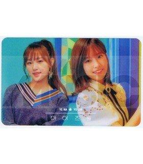 IZ*ONE - Carte transparente YE NA X YU JIN (COLORIZ / VERSION COLOR)