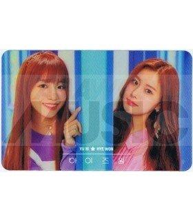 IZ*ONE - Carte transparente YU RI X HYE WON (COLORIZ / VERSION COLOR)