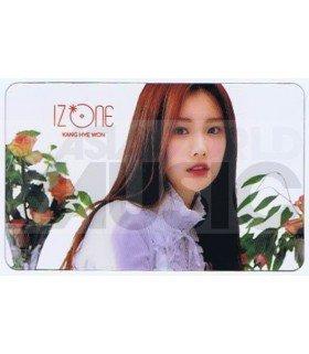 IZ*ONE - Carte transparente HYE WON (COLORIZ / VERSION ROSE)