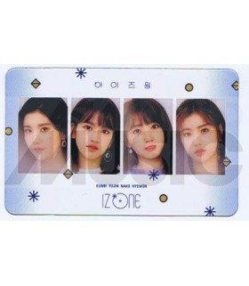 IZ*ONE - Carte transparente EUN BI X YU JIN X NAKO X HYE WON (COLORIZ / VERSION ROSE)
