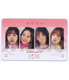IZ*ONE - Carte transparente YU RI X WON YOUNG X SAKURA X YE NA (COLORIZ / VERSION ROSE)