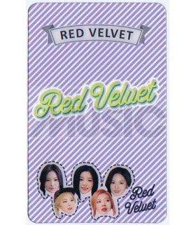 RED VELVET - Carte transparente LOGO 002