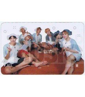 BTS - Carte transparente BAND (RUN BTS 2019 / SAUNA SCENE)