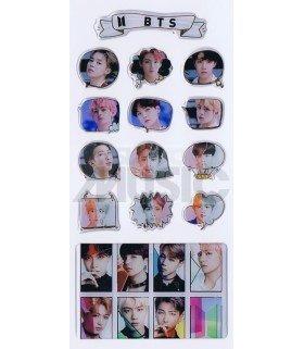 BTS - Stickers & Card 3D (Nouvelle collection) 004
