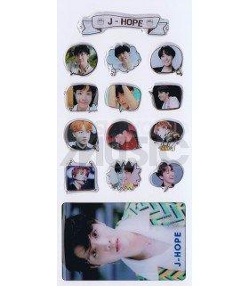 BTS - Stickers & Card 3D - J-HOPE (Nouvelle collection) 002