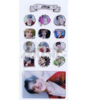 BTS - Stickers & Card 3D - JIMIN (Nouvelle collection) 001