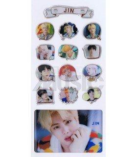 BTS - Stickers & Card 3D - JIN (Nouvelle collection) 001