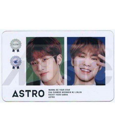 ASTRO - Carte transparente JINJIN X ROCKY (KOREA 2019 AROHA FESTIVAL)
