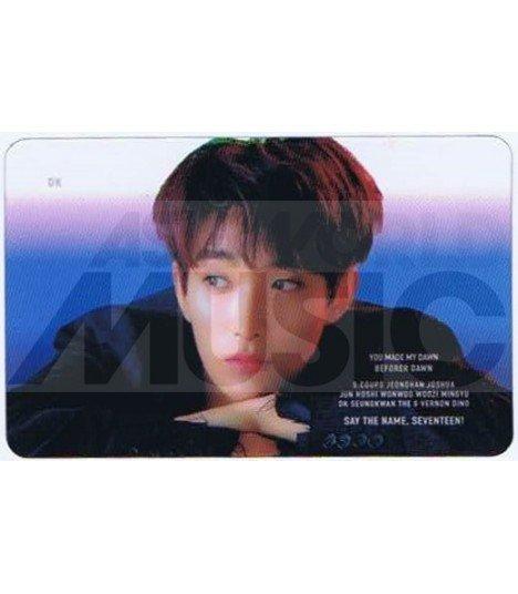 SEVENTEEN - Carte transparente DK (YOU MADE MY DAWN)