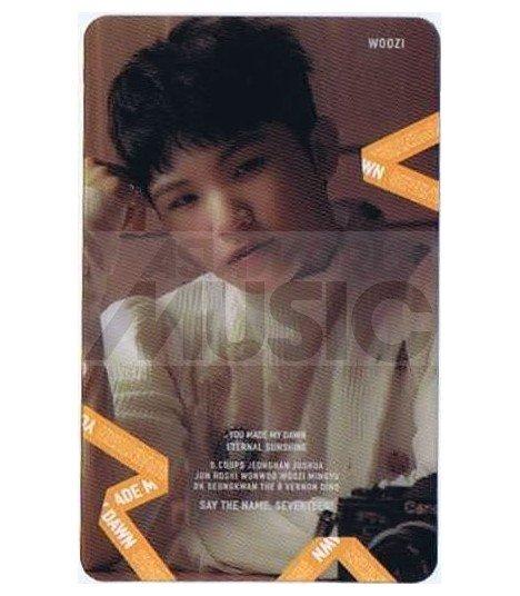 SEVENTEEN - Carte transparente WOOZI (YOU MADE MY DAWN)