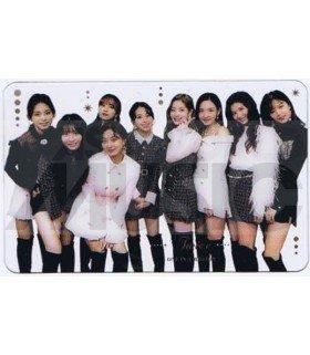 TWICE - Carte BAND (FANCY / TYPE C)TWICE - Carte transparente BAND (2018 MUSIC STATION SUPER LIVE JAPAN)