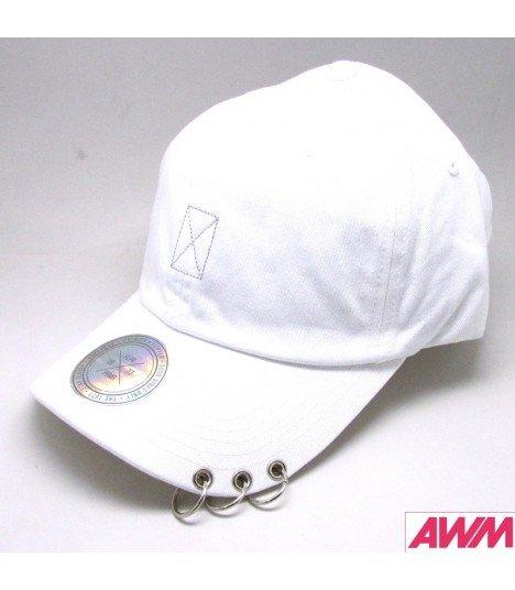 taille 40 aeb3e 5b4e9 BTS - Casquette FLIPPER avec anneaux - WHITE (Broderie argentée) -  Asiaworldmusic.fr - Site de vente en ligne des magasins MUSICA