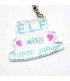 Strap en acrylique Super Junior with E.L.F