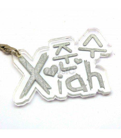 Strap en acrylique TVXQ (Xiah) 006
